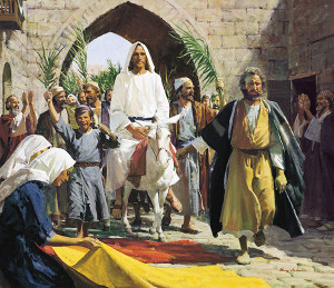 This was the only time that Jesus Christ would allow Himself to be praised as King. The occasion was His triumphant entry to Jerusalem before He was crucified in the Spring of 32 A.D., fulfilling Daniel's 40 weeks prophecy about the Messiah's appearance.