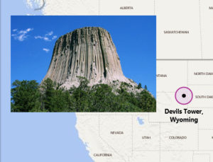 The name Devil's Tower originated in 1875 during an expedition led by Col. Richard Irving Dodge when his interpreter misinterpreted the name to mean Bad God's Tower, which then became Devil's Tower.