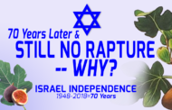70 Years after Israel, Still no Rapture! -- Why?