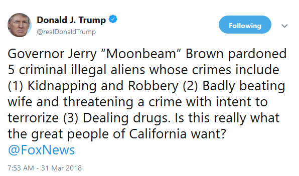 Trump on Brown